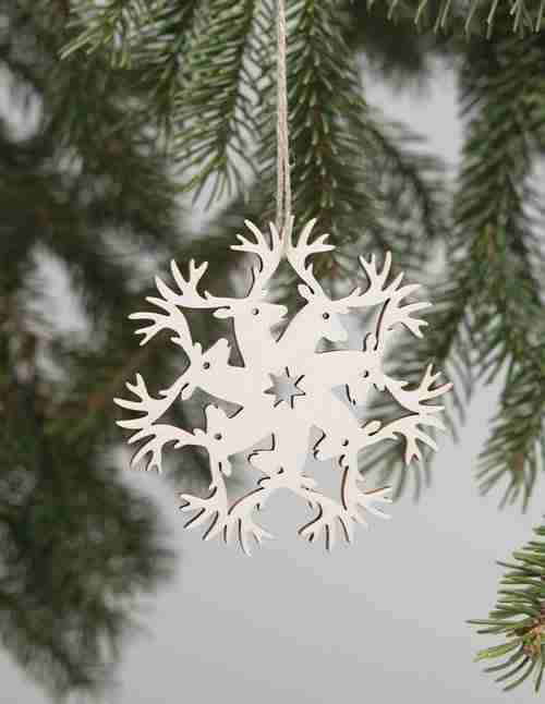 Laser-Cut Decorations - Buck Snowflake