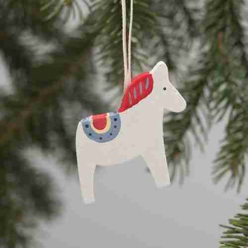 Dala Horse Ornaments - Red