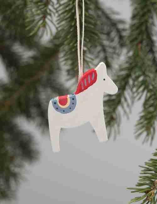 Dala Horse Ornaments - Red
