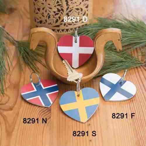Flag Key Rings