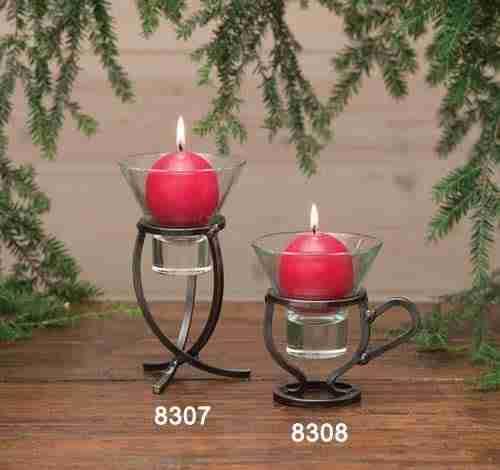 Danish Iron Candle Holders