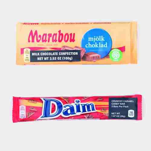 Marabou Chocolate Bars From Sweden