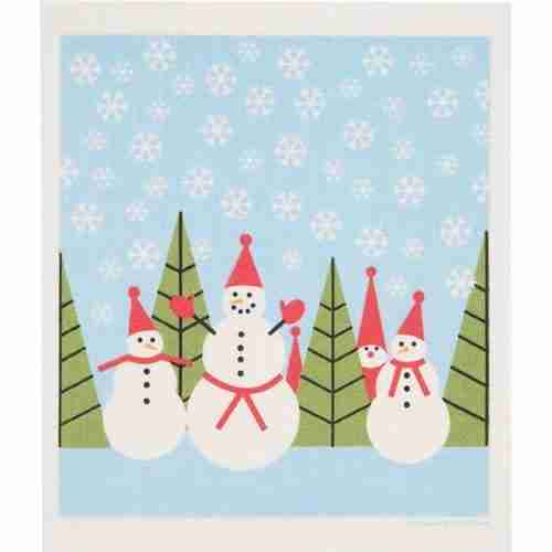 Swedish Dishcloth Snowmen