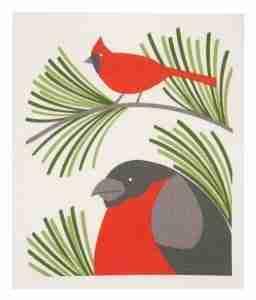 Swedish Dishcloth - Red Robin