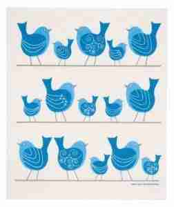 Swedish Dishcloth - Bluebirds