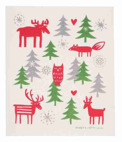 Swedish Dishcloth - Forest Animals