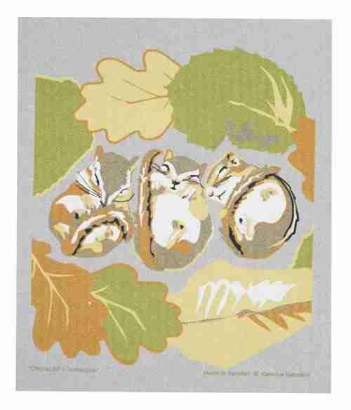 Swedish Dishcloth - Chipmunks