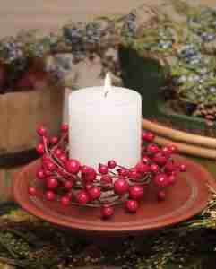 Silk Floral Candle Rings