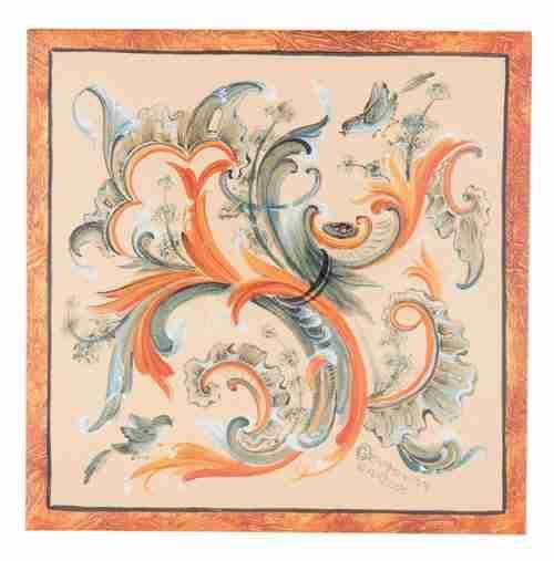 Suzanne Toftey Rosemaling Tile