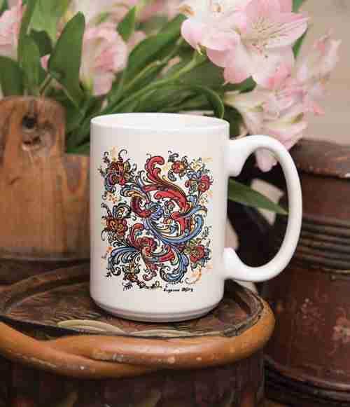 Suzanne Toftey Rosemaling Mug