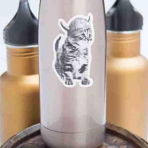 Viking Kitten Vinyl Sticker