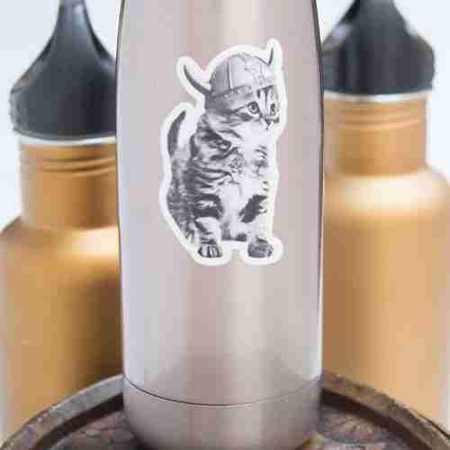 Viking Kitten Vinyl Sticker
